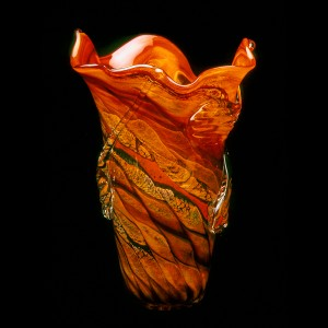 The end-result: a one-of-a-kind hand-blown glass vessel
