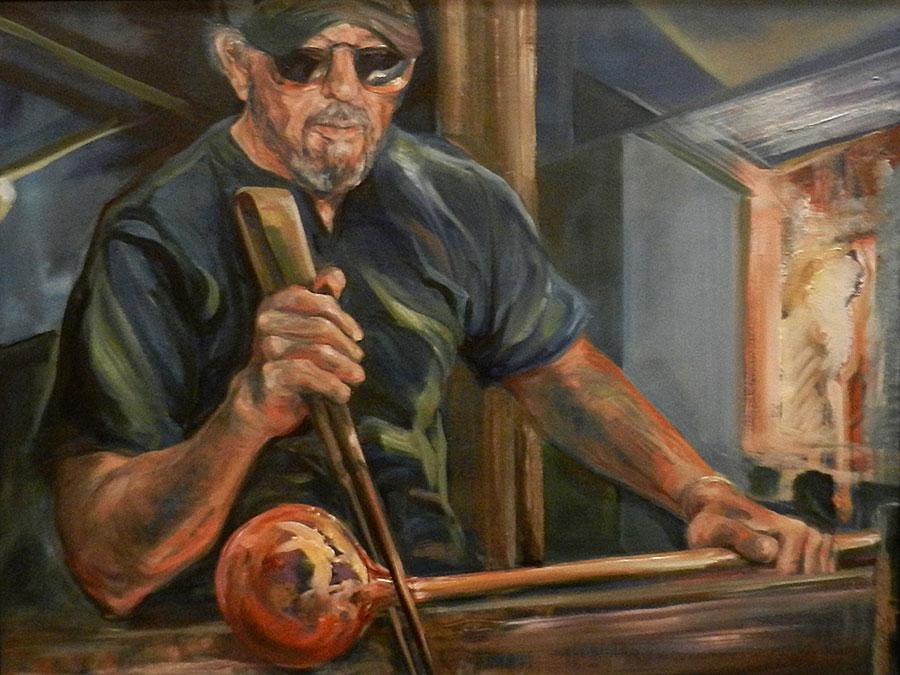 Randy Kuntz in the Studio -- painting